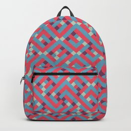 Geometric Labyrinth Red And Blue Backpack