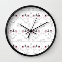 kawaii Wall Clocks featuring kawaii by Beatrice Bogoni