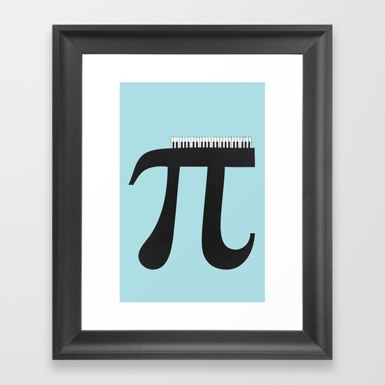 Pi_ano Framed Art Print