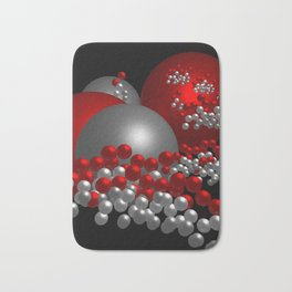 3D in red, white and black -10- Bath Mat