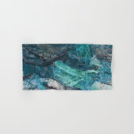 Cerulean Blue Marble Hand & Bath Towel