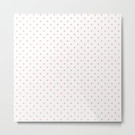 Dots (Pink/White) Metal Print