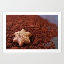 Chocolate Star and Cocoa Art Print