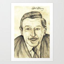 Walt Disney Art Print
