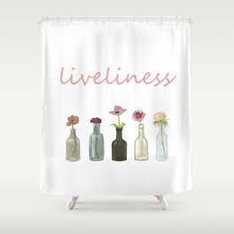 livelinerss . lettering . artwork Shower Curtain