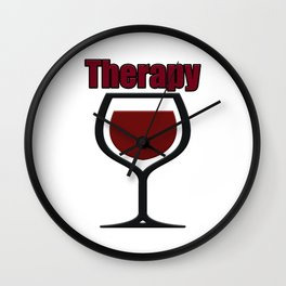 wine therapy Wall Clock