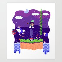 Tiny Worlds - Super Mario Bros. 2: Luigi Art Print