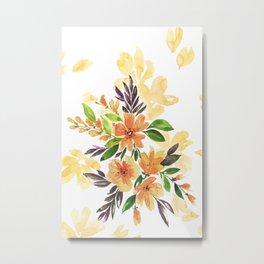 """Floral bouquet """"Felicity"""" Metal Print"""