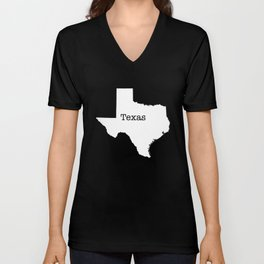 Cartography of the famous State of Texas Unisex V-Neck