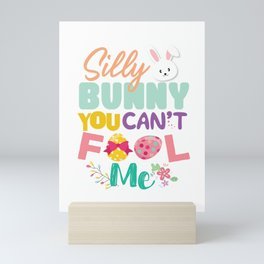 Egg Hunting Easter Bunny Rabbit  Mini Art Print