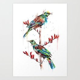 2 tuis Art Print