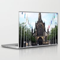 medieval Laptop & iPad Skins featuring medieval glasgow by seb mcnulty
