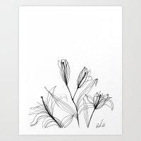 InkLilies Art Print