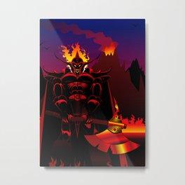 Zombie Ghost Warrior Metal Print