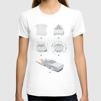 delorean T-shirts featuring Origami DeLorean by 6amcrisis