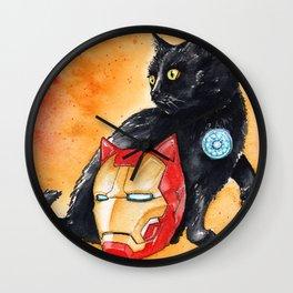 Iron Cat Wall Clock