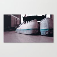 vans Canvas Prints featuring Vans by ScottHasPopsicles
