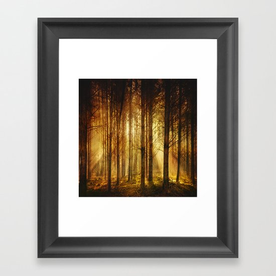 Golden Nature. Framed Art Print