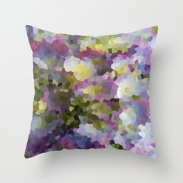 Crystallized Purple Hydrangea Throw Pillow