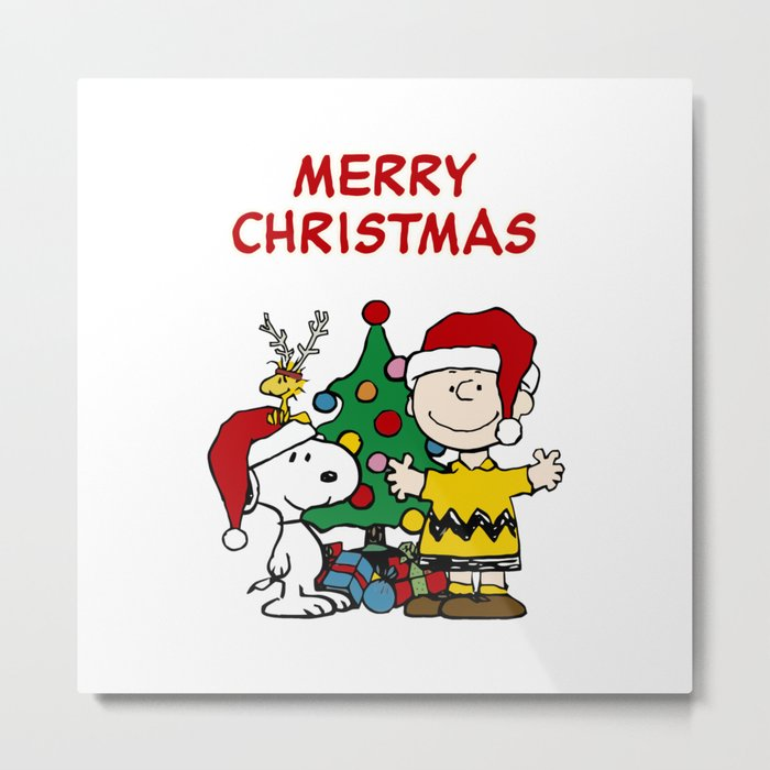 Snoopy Merry Christmas Images.Snoopy Merry Christmas Metal Print By Blackpink