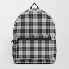 Clan Erskine Tartan // Black & White Backpack