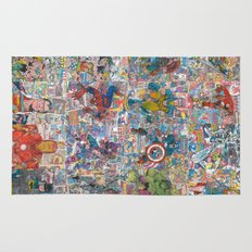 Vintage Comic Superheroes Galore (Limited Time) Rug