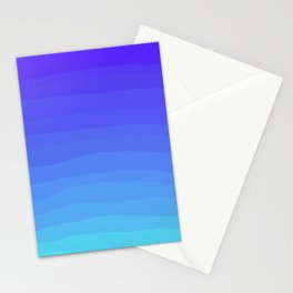 Cobalt Light Blue gradient Stationery Cards