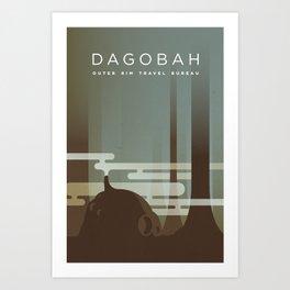 Outer Rim Travel Bureau: Dagobah Art Print