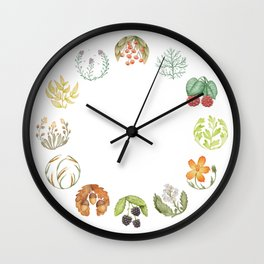 Nature Clock circles Wall Clock