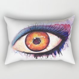 Aries Watercolor Eye Rectangular Pillow