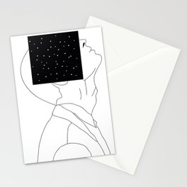 What is he thinking about? Stationery Cards