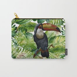 Toucan tropical and exotic Bird on #Society6 Carry-All Pouch