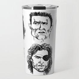80s Action Stars Travel Mug