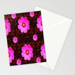 FUCHSIA PINK FLOWERS &  DARK ART Stationery Cards