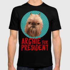 Archie for President Mens Fitted Tee Black LARGE