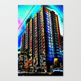 Neon Tower, Fitzroy Canvas Print