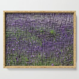 Lavender Hues Abstract Serving Tray
