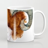 aries Mugs featuring Aries by Aloke Design