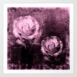 Vintage Rose Illustration Art Print