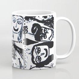 Funny Face   Pop Art   Black and White Coffee Mug