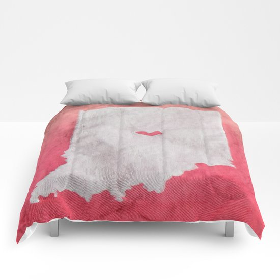 Indianapolis Love Pink Ombre (Bag Art) Comforters