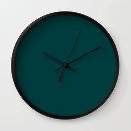 Dark Teal Wall Clock
