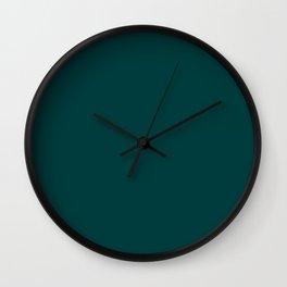 Dark Teal Wall Clock