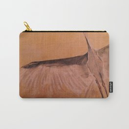 Wood Crane gold sky painting on wood Carry-All Pouch
