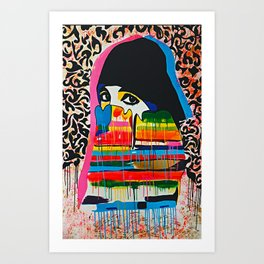 Madness Behind The Beauty Art Print