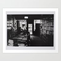 library Art Prints featuring Library by Pamela Leszczynski