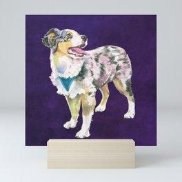 Toy Australian Shepherd Mini Art Print