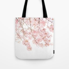 Pink Blooming Cherry Trees Tote Bag