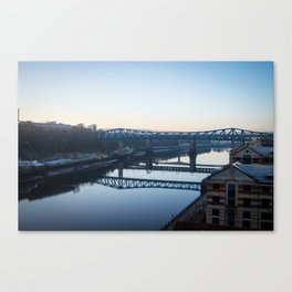 Reflections in the Tyne, Newcastle UK Canvas Print