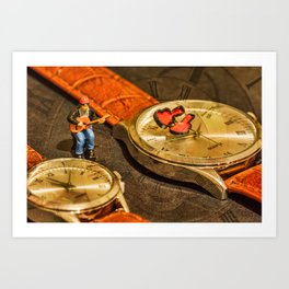 Playing For Time Art Print